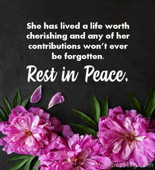 may her soul rest in peace