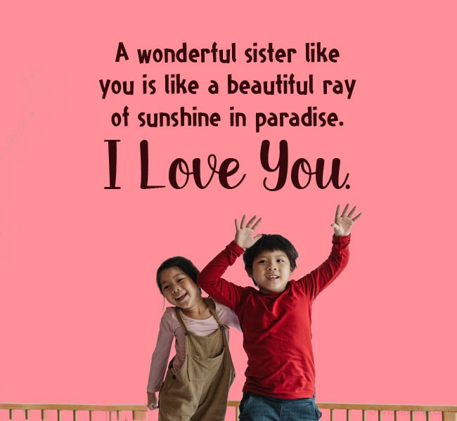 message for sister