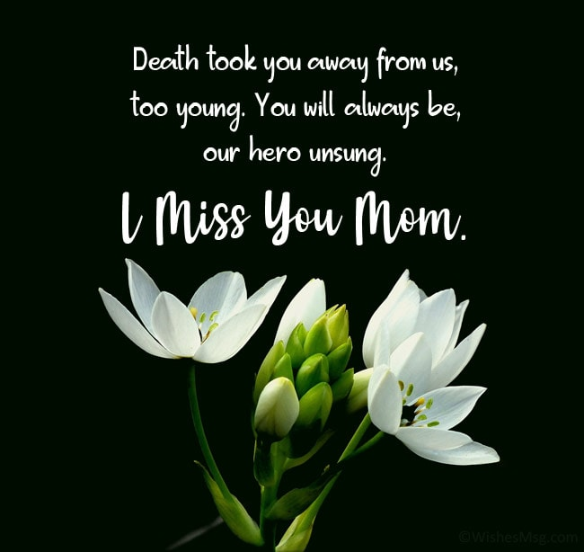 message to my late mother