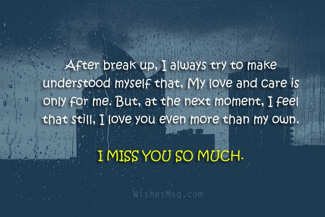 I Miss You Messages For Ex Boyfriend Or Ex Girlfriend Wishesmsg