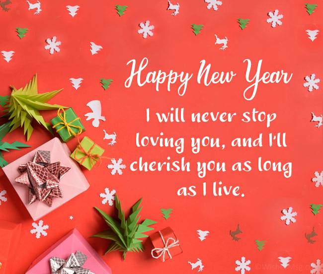 new year wishes for love