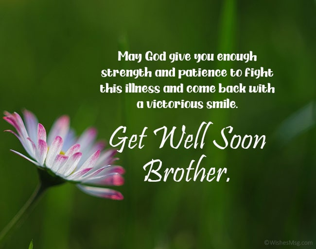 prayer for my brother to get well soon