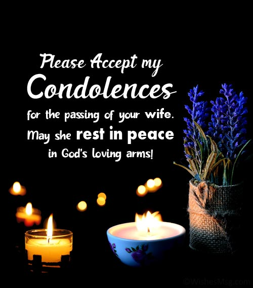 religious condolence messages for loss of wife