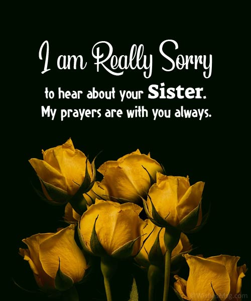 religious sympathy messages for loss of sister