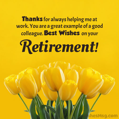 retirement wishes to colleague