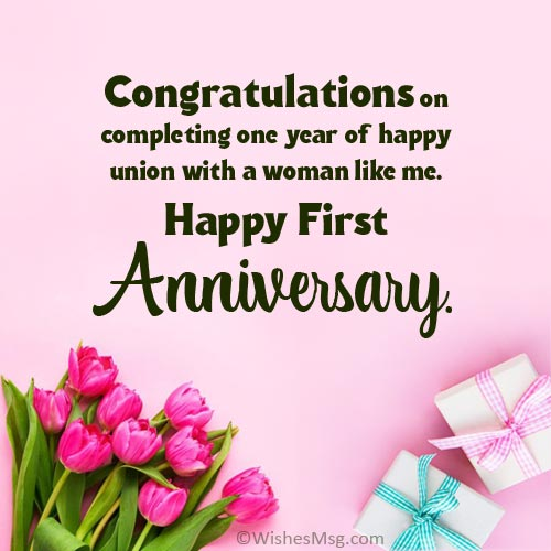 romantic 1st anniversary wishes for husband