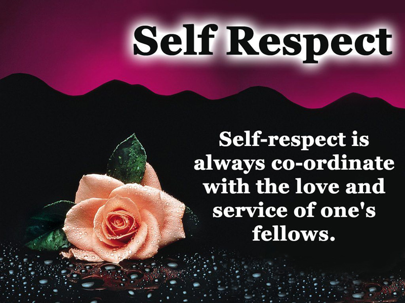 self respect quotes and self esteem messages