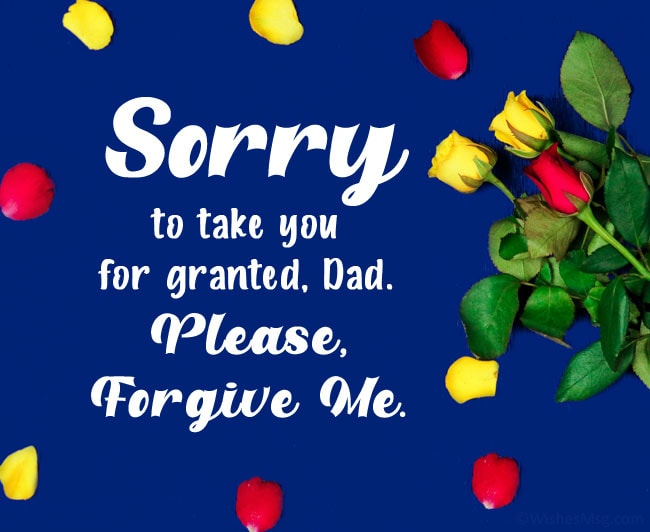 sorry dad quotes