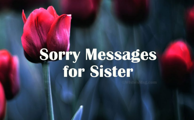 Sorry Messages for Sister – Apology Quotes