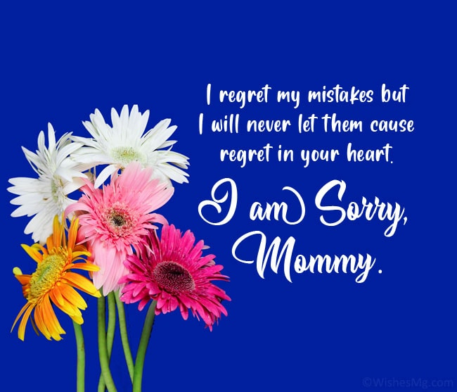 sorry msg to mom from daughter