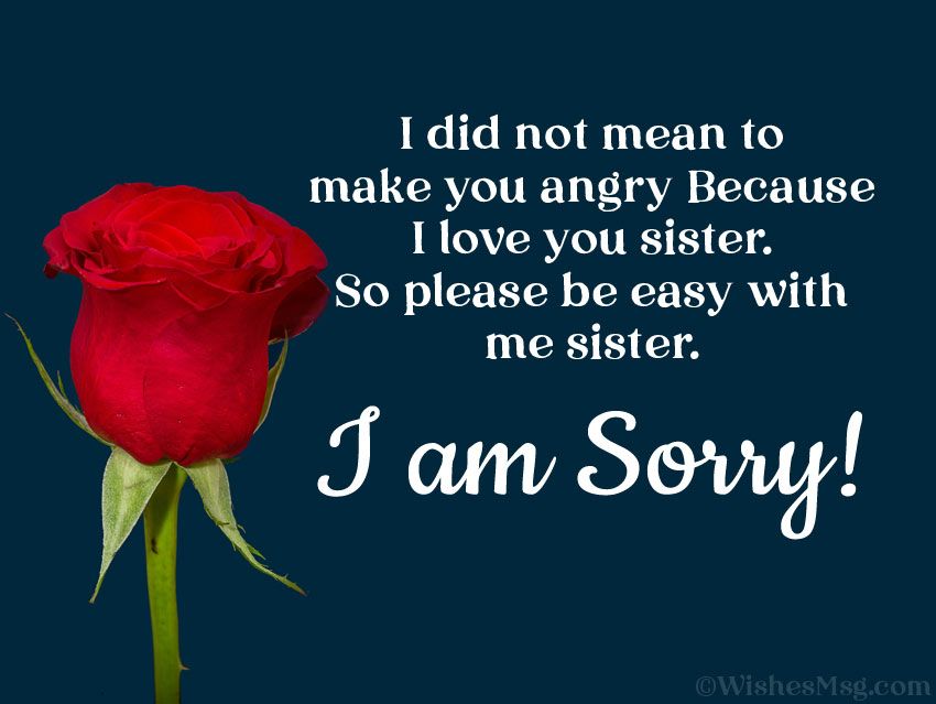 I'm sorry quotes for sister