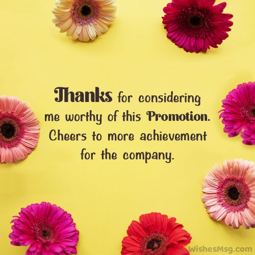 thank you email for promotion