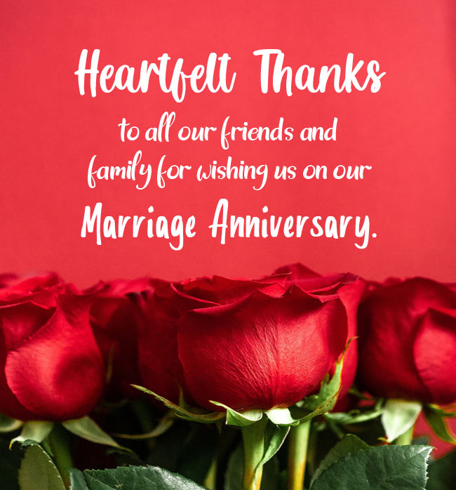Thank You Messages For Anniversary Wishes Wishesmsg