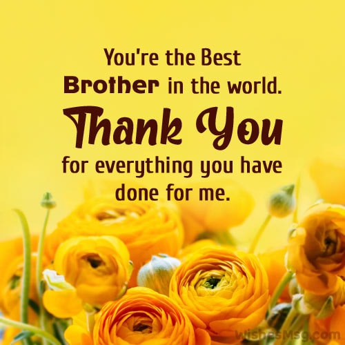 thank you message for brother