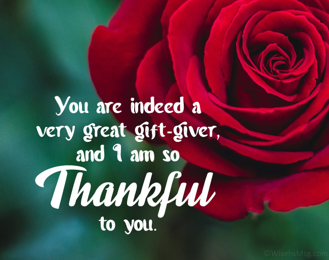 thank you message for gifts received