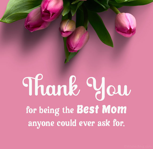 thank you message for mother