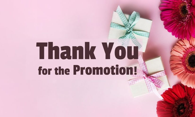 Thank You Messages for Promotion
