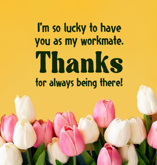 thank you messages for colleagues at work