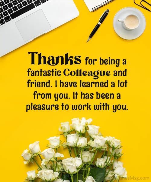 thank you messages for colleagues when leaving