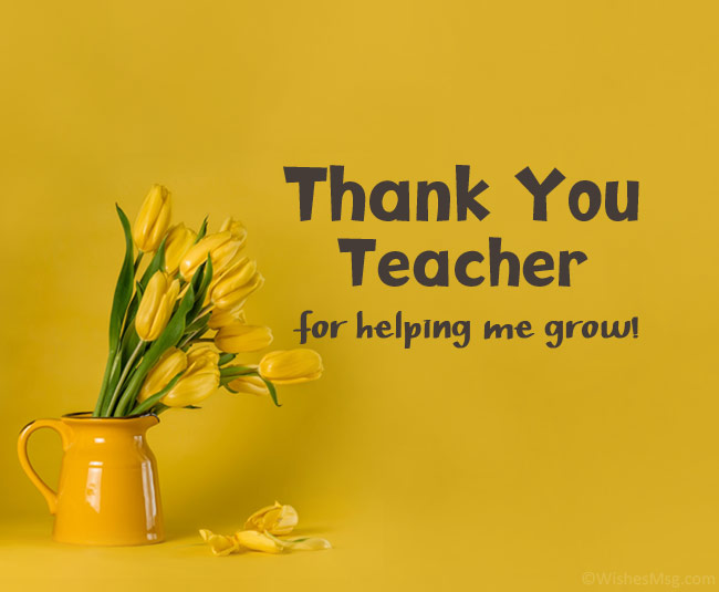 80 Thank You Teacher Messages And Quotes Wishesmsg