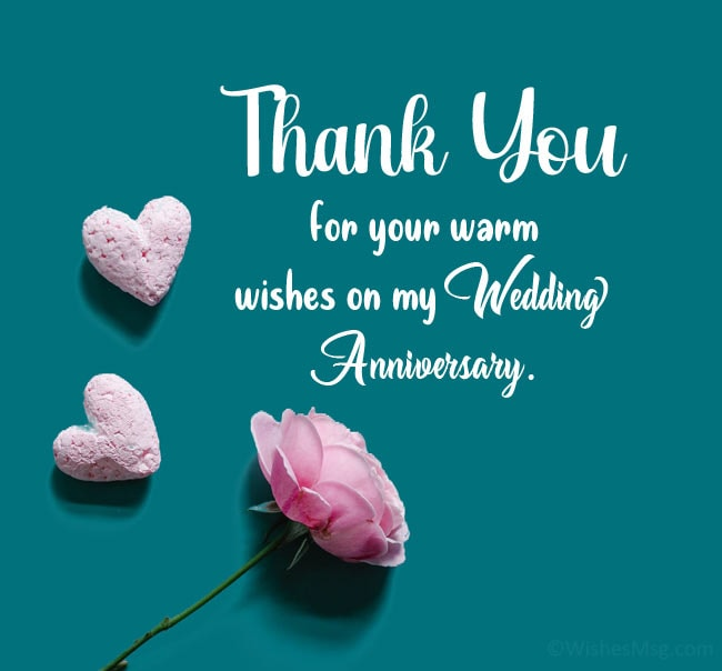 thanks for anniversary wishes
