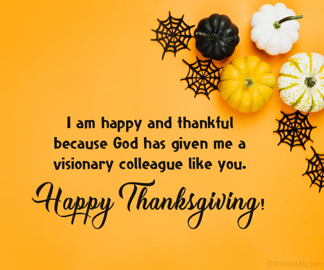 thanksgiving wishes to colleagues