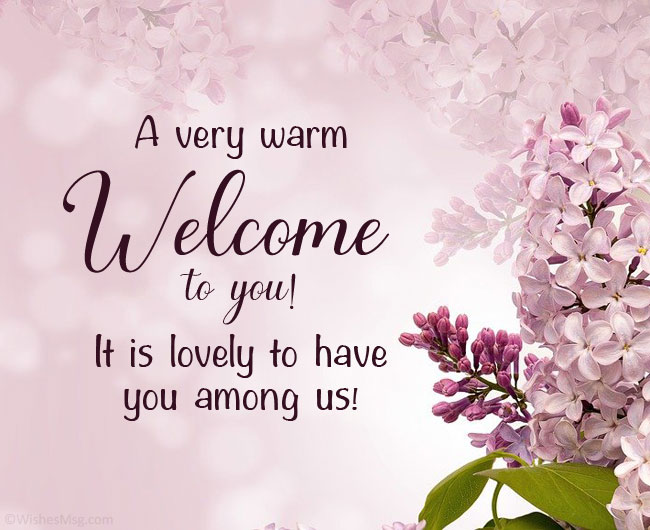 warm welcome message