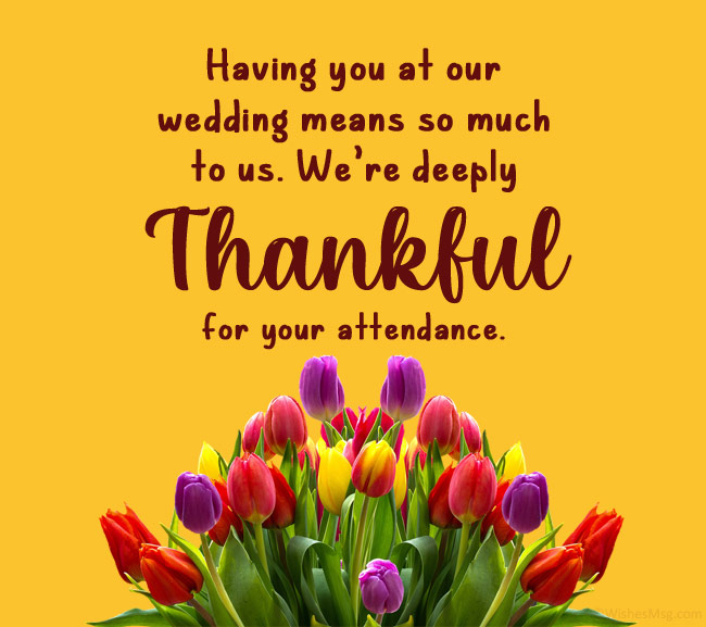 wedding thank you cards message