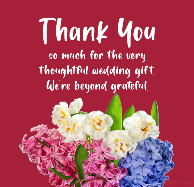 wedding thank you messages for gift