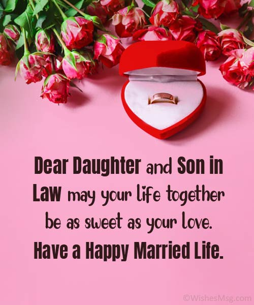 wedding wishes for daughter and son in law