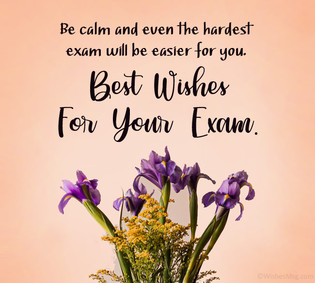 wishes for exam