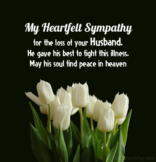 words of comfort for loss of husband